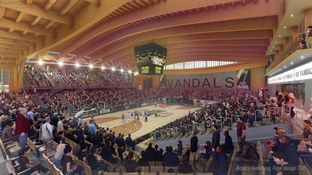 Idaho Central Credit Union Arena interior rendering