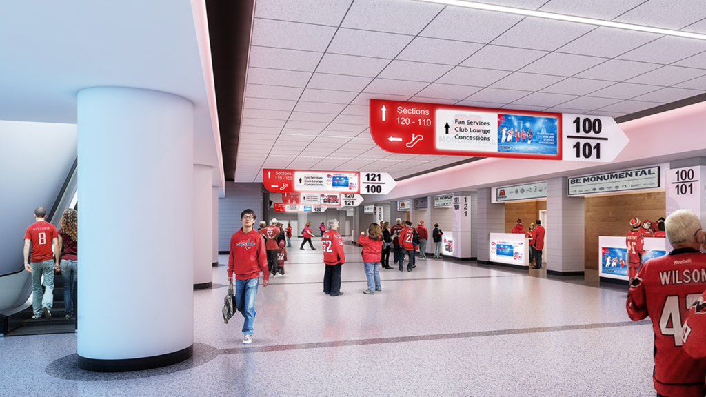 Capital One Arena concourse renovation rendering