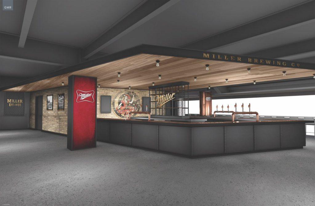 New Milwaukee Bucks Arena bar Miller